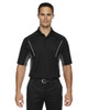 Black - 85110 Ash City - Extreme Eperformance Men's Parallel Polo with Piping