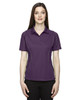Mulbry Purpl 75107 Ash City - Extreme Eperformance Ladies' Velocity Colourblock Polo Shirt with Piping