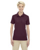 Burgundy 75108 Ash City - Extreme Eperformance Ladies' Shield Short-Sleeve Polo Shirt