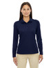 Classic Navy - 75111 Ash City - Extreme Eperformance Ladies' Long-Sleeve Polo Shirt | BlankClothinkg.ca