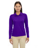 Campus Purple - 75111 Ash City - Extreme Eperformance Ladies' Long-Sleeve Polo Shirt | BlankClothinkg.ca