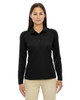 Black 75111 Ash City - Extreme Eperformance Ladies' Long-Sleeve Polo Shirt