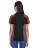 Black/ Classic Red - Back, 75119 Extreme Eperformance Ladies' Strike Protection Polo Shirt | BlankClothing.ca