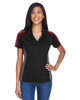 Black/ Classic Red - 75119 Extreme Eperformance Ladies' Strike Protection Polo Shirt | BlankClothing.ca