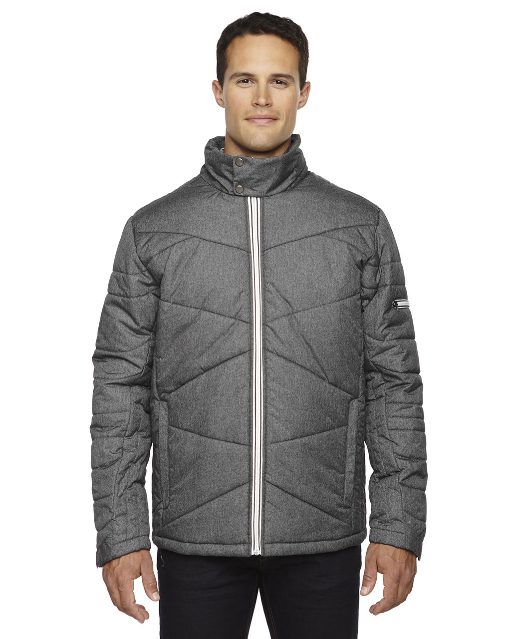 Carbon Heather 88698 North End Sport Blue Avant Insulated Jacket with Heat Reflect Technology | Blankclothing.ca