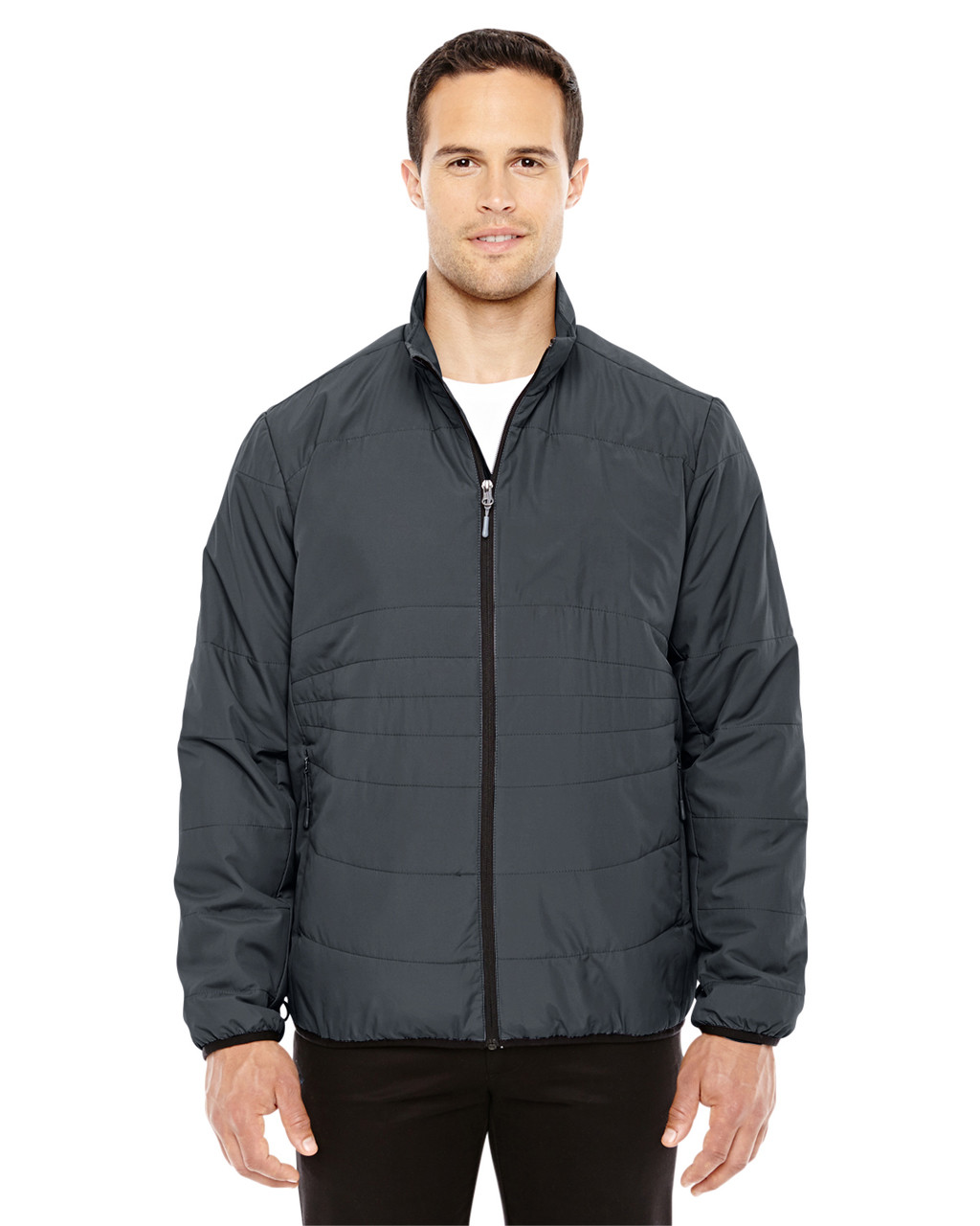 Graphite/Black -  88231 North End Men's Resolve Interactive Insulated Packable Jacket | Blankclothing.ca