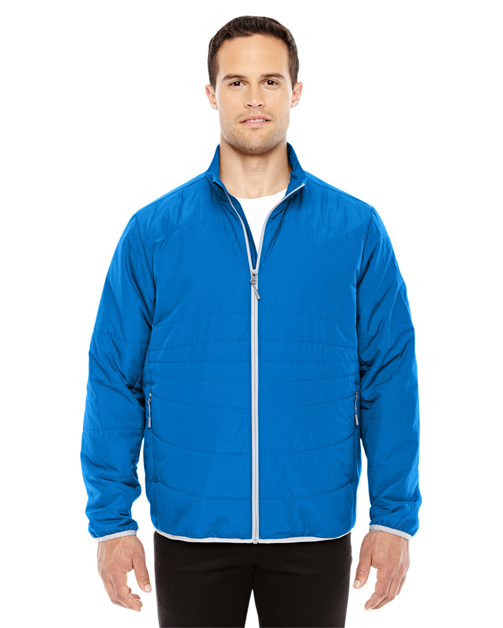 Nau Blue/Plt 88231 North End Men's Resolve Interactive Insulated Packable Jacket | Blankclothing.ca