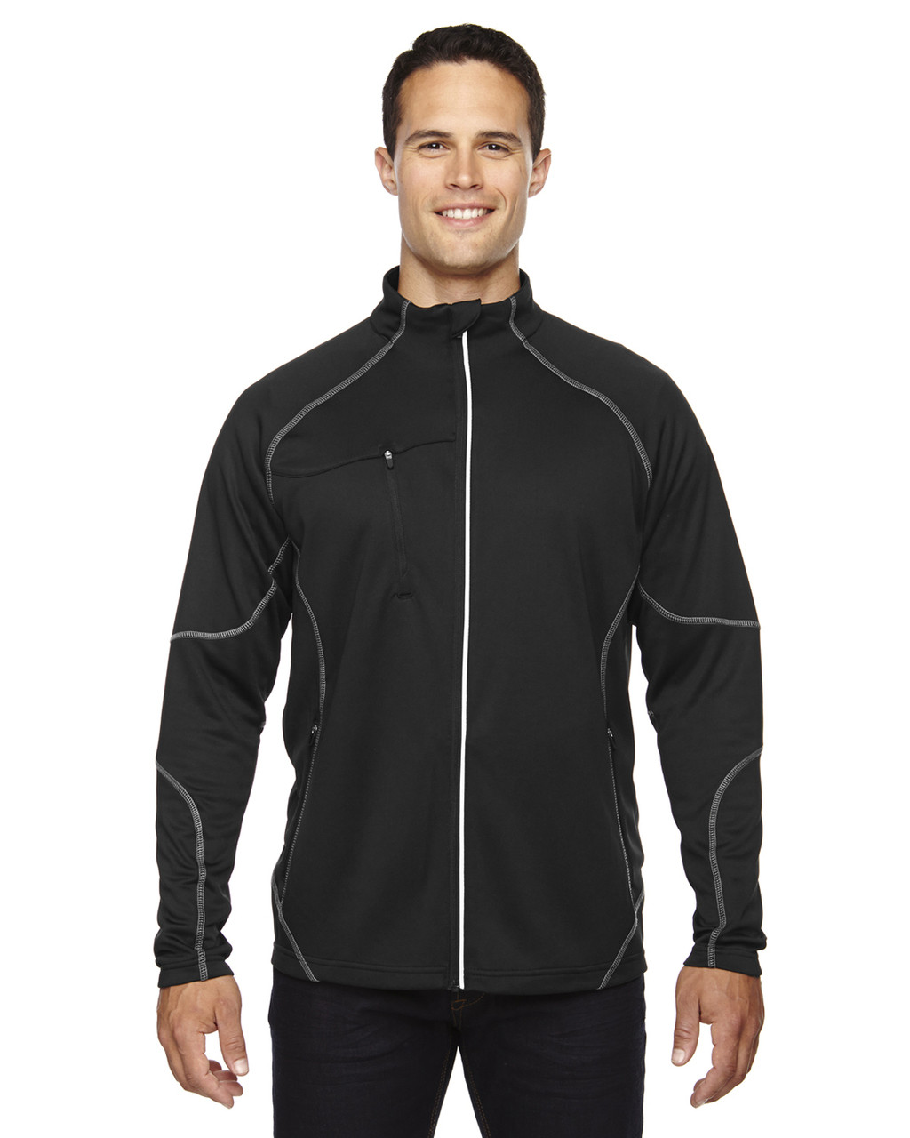 Black - 88174 Ash City - North End Men's Gravity Performance Fleece Jacket | Blankclothing.ca