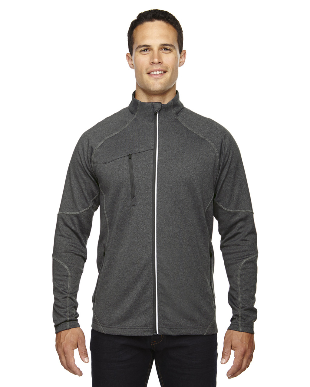 Carbn Heather 88174 Ash City - North End Men's Gravity Performance Fleece Jacket | Blankclothing.ca