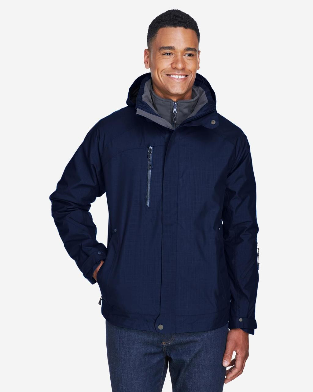 Classic Navy - Front, 88178 North End Caprice 3-in-1 Jacket with Soft Shell Liner | BlankClothing.ca