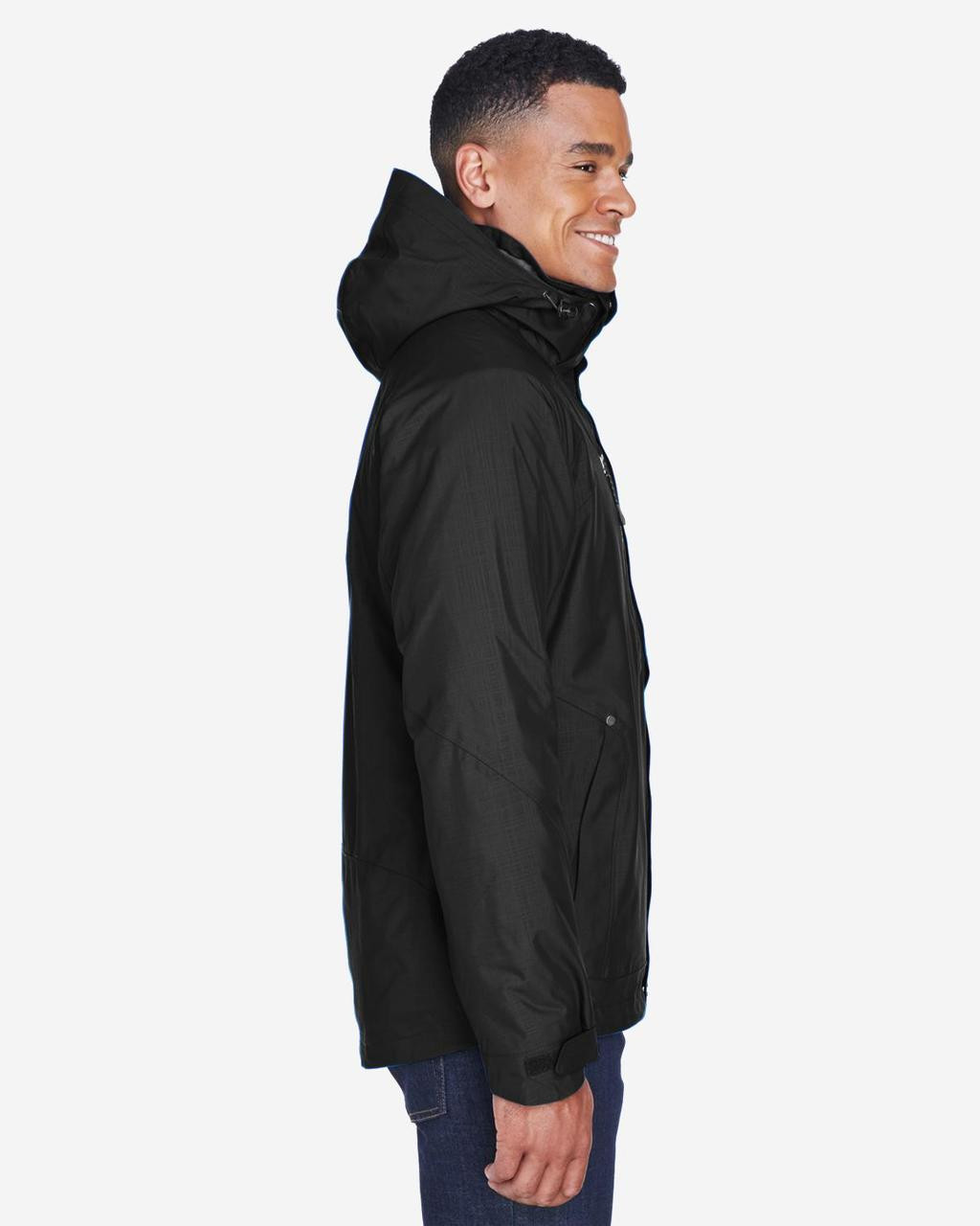 Black - Side, 88178 North End Caprice 3-in-1 Jacket with Soft Shell Liner | BlankClothing.ca