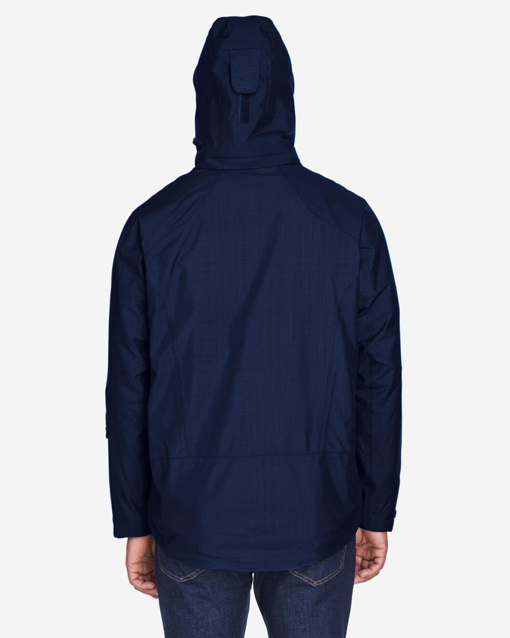 Classic Navy - Back, 88178 North End Caprice 3-in-1 Jacket with Soft Shell Liner | BlankClothing.ca
