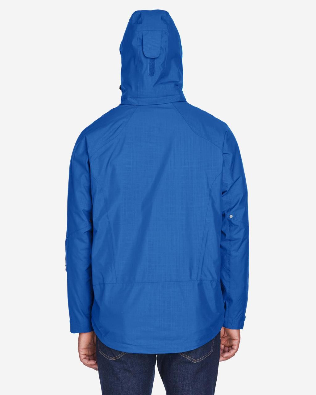 Nautical Blue - Back, 88178 North End Caprice 3-in-1 Jacket with Soft Shell Liner | BlankClothing.ca