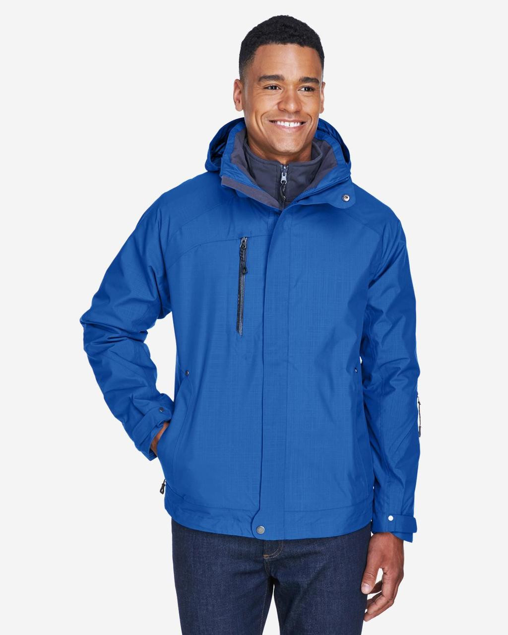Nautical Blue - Front, 88178 North End Caprice 3-in-1 Jacket with Soft Shell Liner | BlankClothing.ca