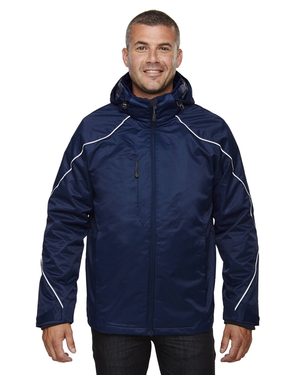 Night 88196 Ash City - North End Angle 3-in-1 Jacket with Bonded Fleece Liner | Blankclothing.ca
