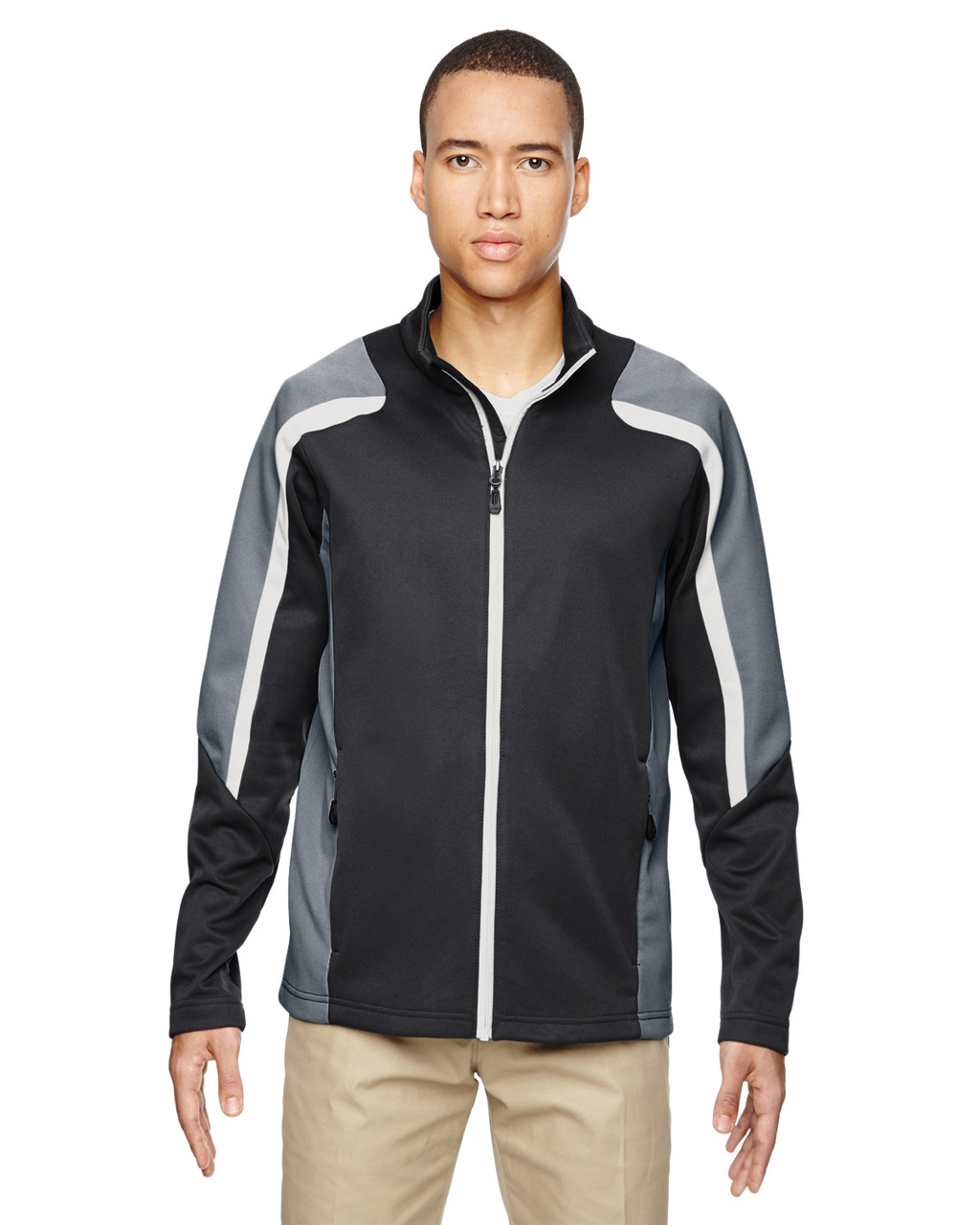 Carbon - 88201 North End Men's Strike Colorblock Fleece Jacket | Blankclothing.ca