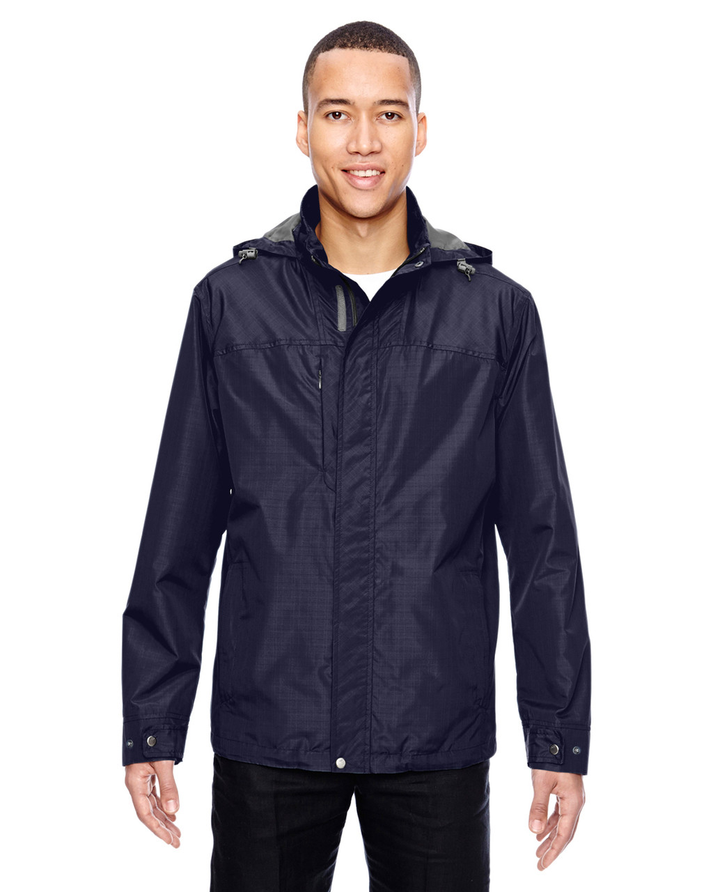 Navy - 88216 North End Excursion Transcon Lightweight Jacket with Pattern   Blankclothing.ca
