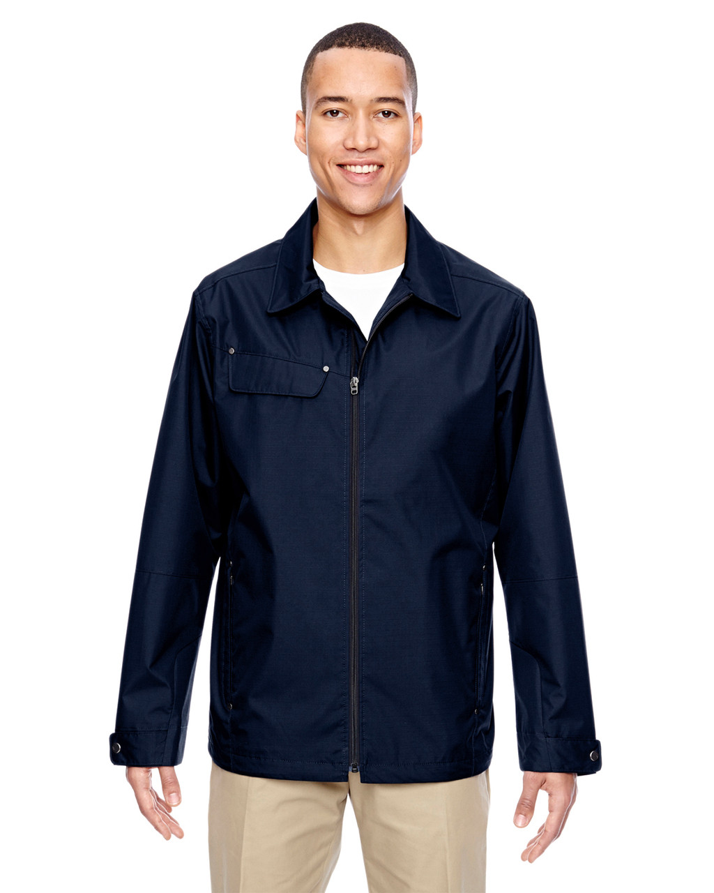Navy - 88218 North End Excursion Ambassador Lightweight Jacket with Fold Down Collar | Blankclothing.ca