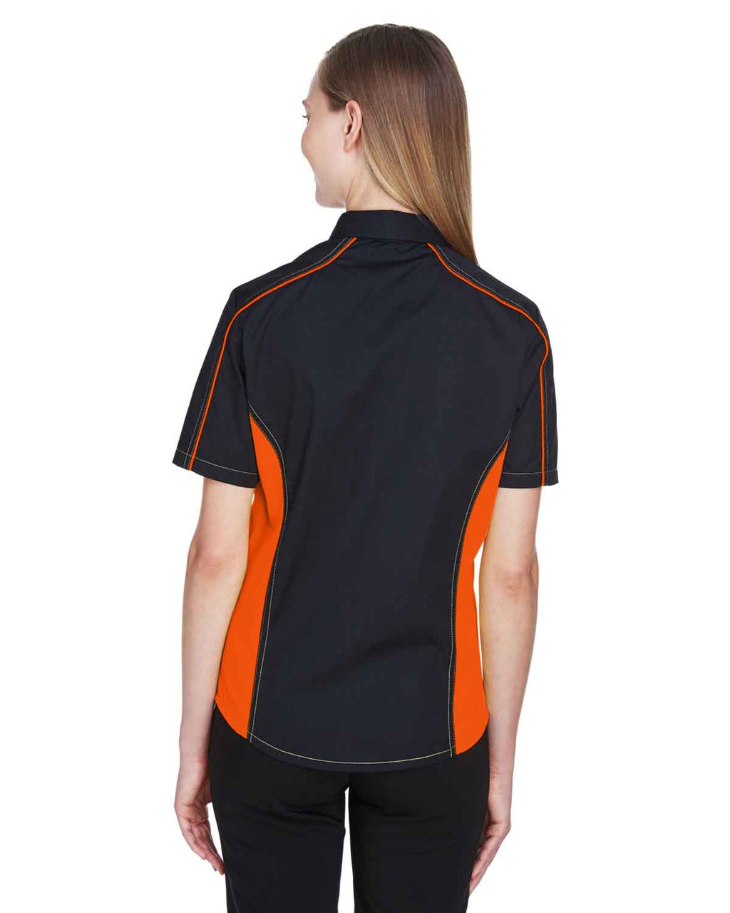 Black/Orange - Black, 77042 North End Fuse Colourblock Twill Shirt | BlankClothing.ca