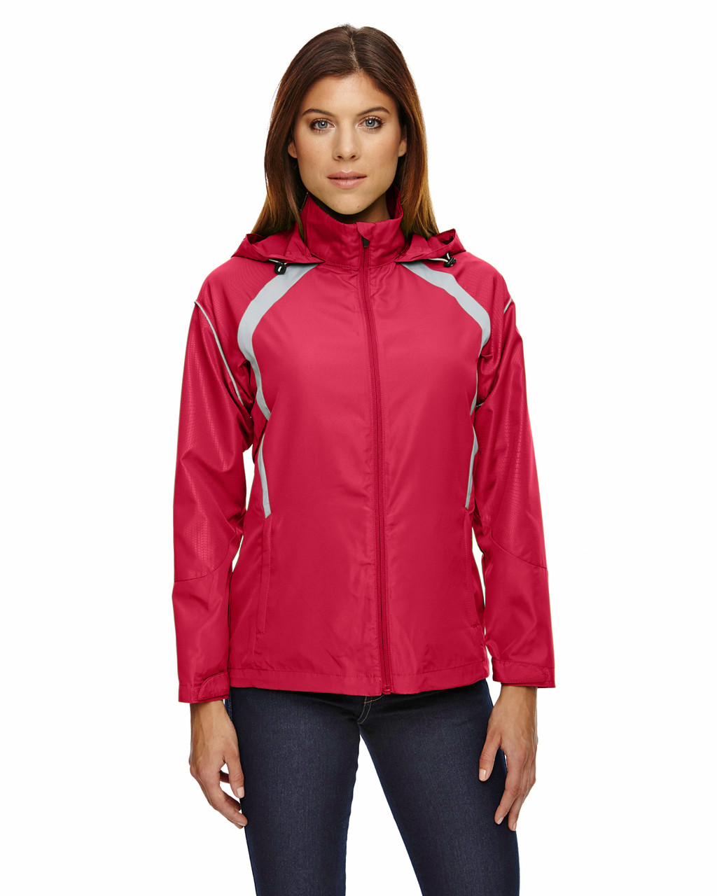 Olympic Red - 78168 North End Sirius Lightweight Jacket with Embossed Print | Blankclothing.ca