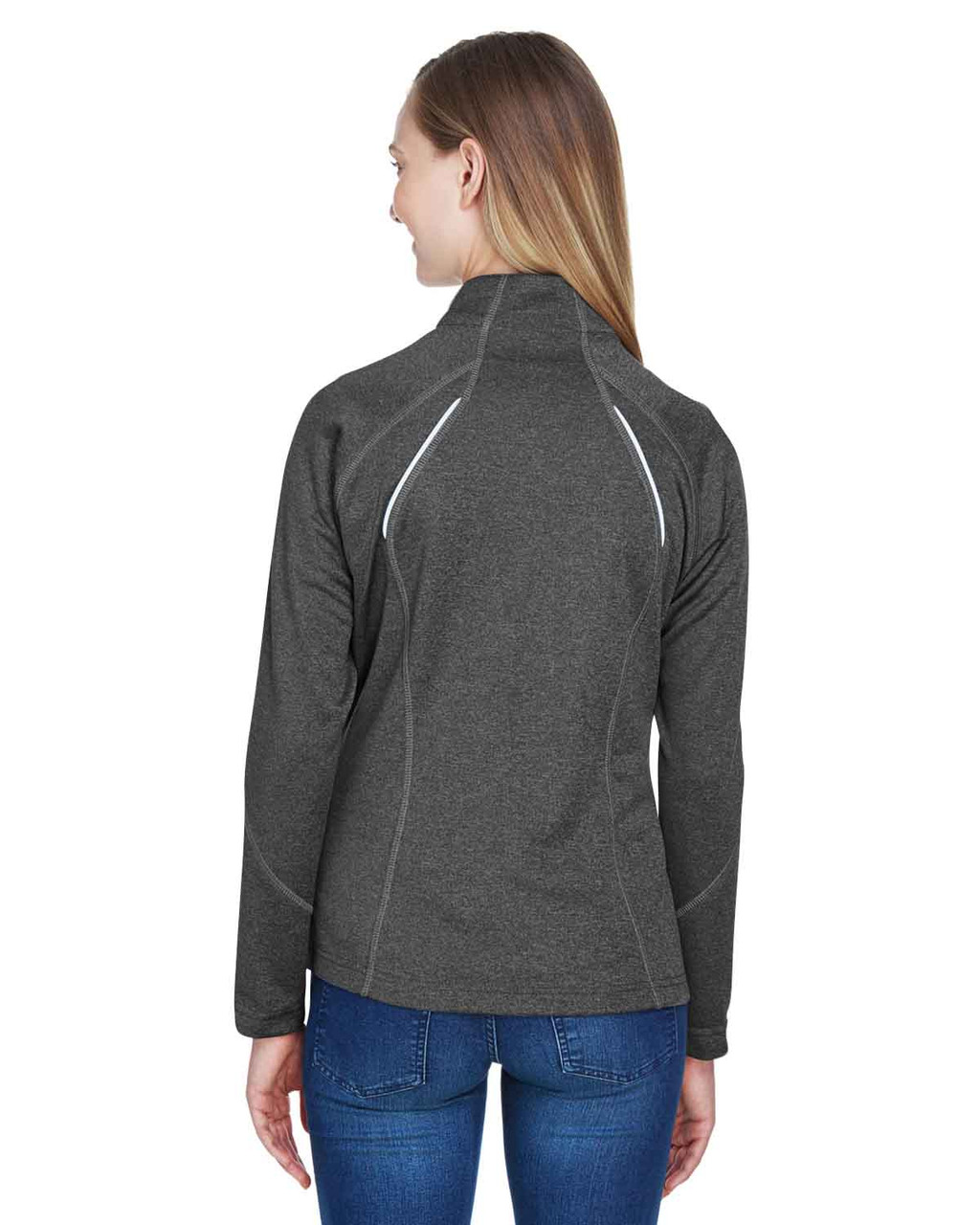 Carbon Heather - Back, 78174 North End Ladies' Gravity Performance Fleece Jacket | BlankClothing.ca