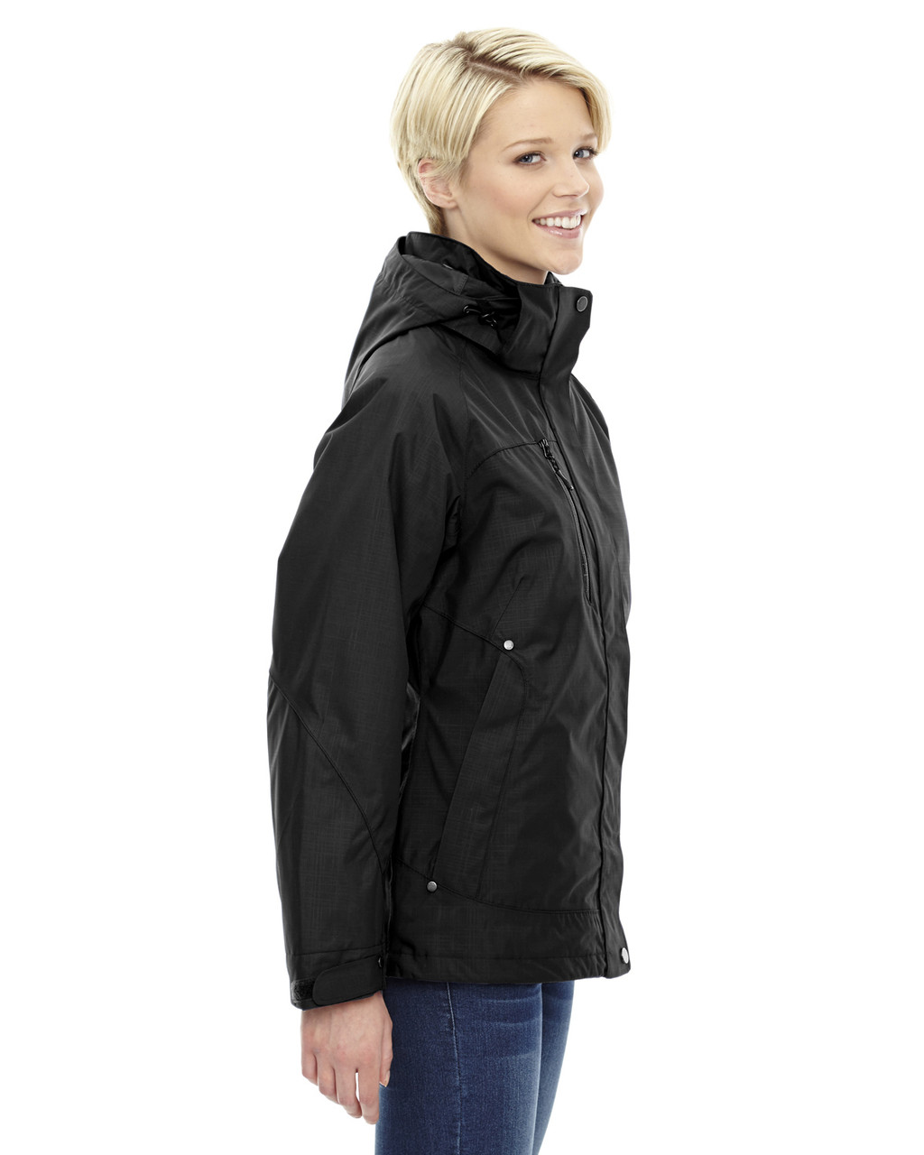 Black - side 78178 North End Caprice 3-in-1 Jacket with Soft Shell Liner | Blankclothing.ca