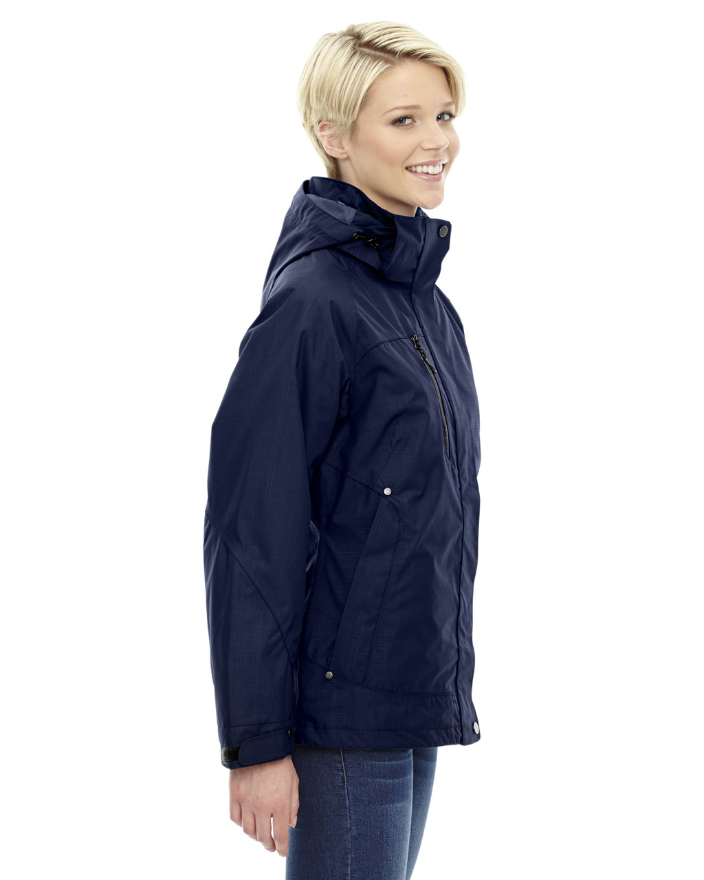 Classic Navy - side 78178 North End Caprice 3-in-1 Jacket with Soft Shell Liner | Blankclothing.ca