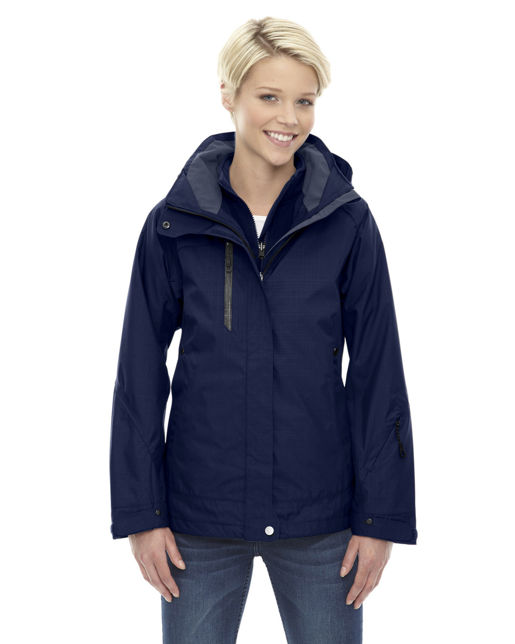 Classic Navy - 78178 North End Caprice 3-in-1 Jacket with Soft Shell Liner | Blankclothing.ca