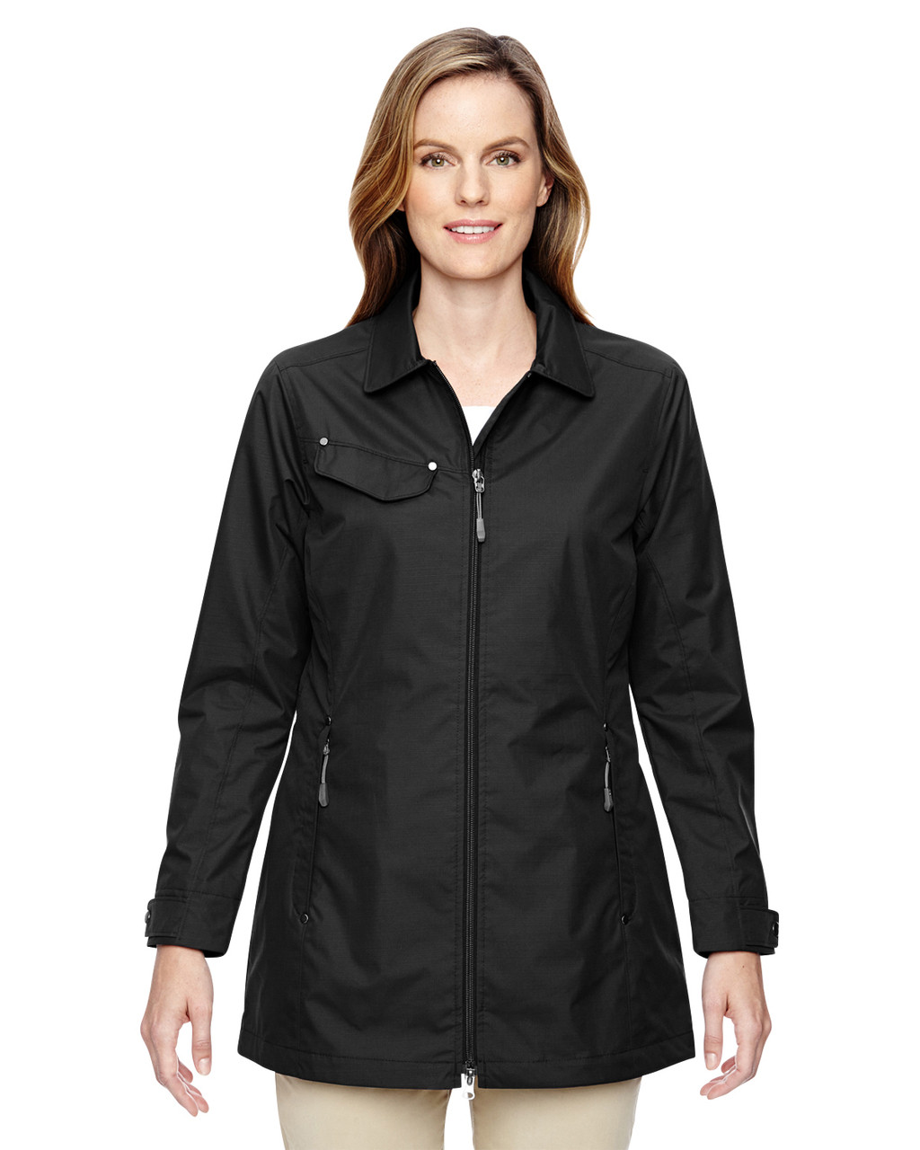 Black 78218 North End Excursion Ambassador Lightweight Jacket with Fold Down Collar | Blankclothing.ca