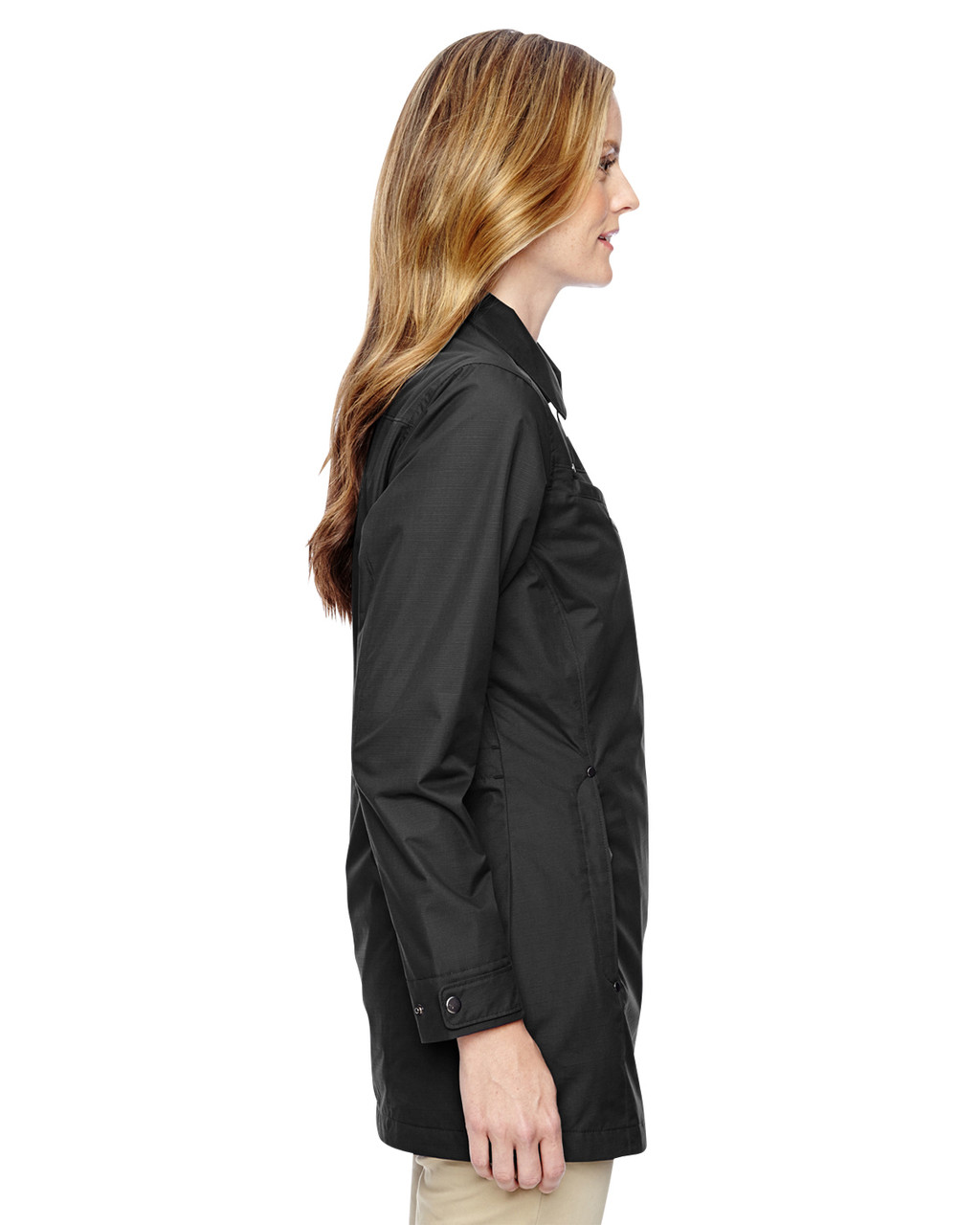 Black - side 78218 North End Excursion Ambassador Lightweight Jacket with Fold Down Collar | Blankclothing.ca