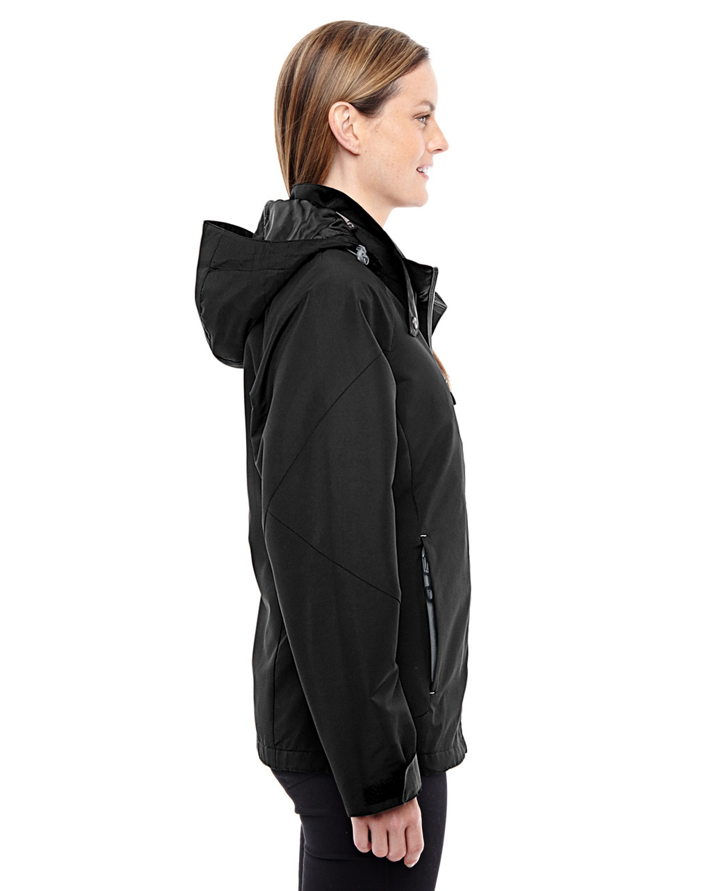 Black-Graphite-side 78226 North End Ladies' Insight Interactive Shell Jacket | Blankclothing.ca