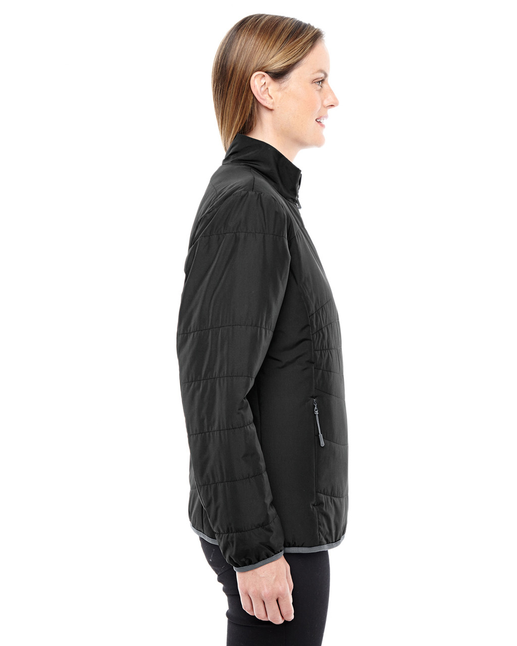 Black/Graphite - side 78231 North End Resolve Interactive Insulated Packable Jacket | Blankclothing.ca