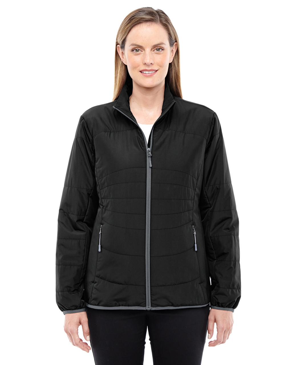 Black/Graphite - 78231 North End Resolve Interactive Insulated Packable Jacket | Blankclothing.ca