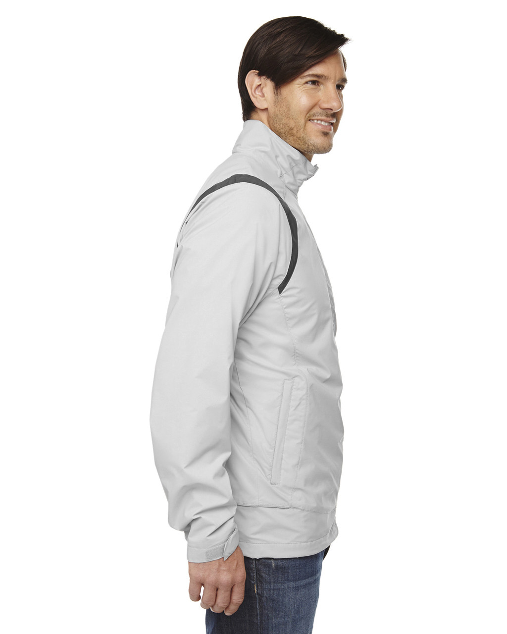 Grey Frost  - side 88167 North End Venture Lightweight Mini Ottoman Jacket | Blankclothing.ca