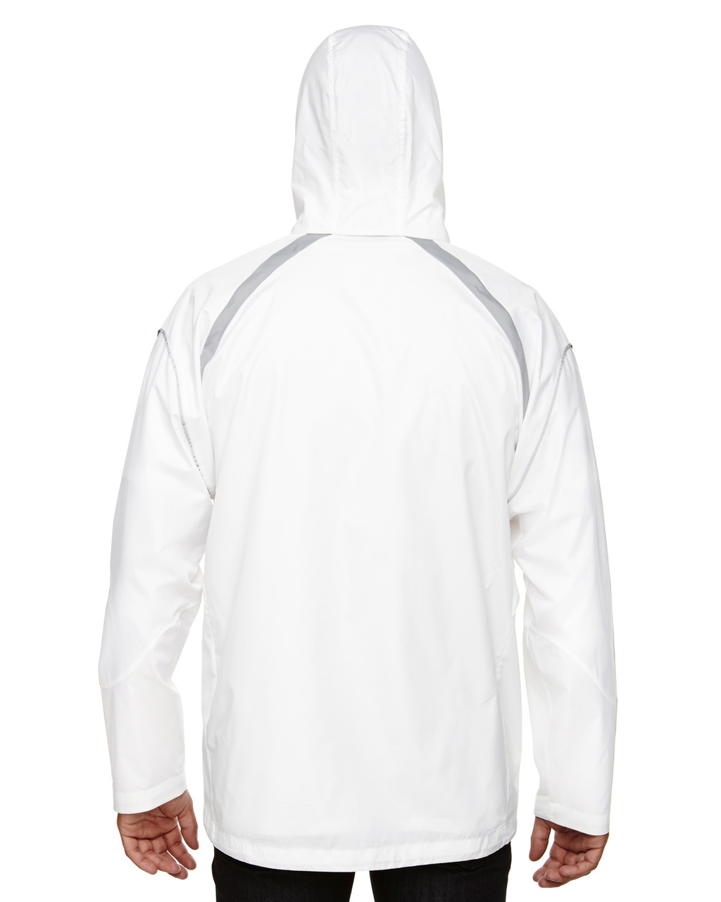 White - Back, 88168 North End Sirius Lightweight Jacket with Embossed Print | Blankclothing.ca
