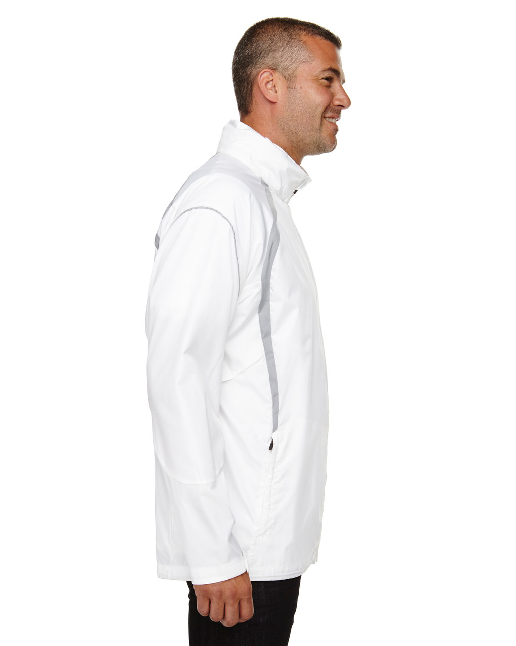 White - Side, 88168 North End Sirius Lightweight Jacket with Embossed Print | Blankclothing.ca