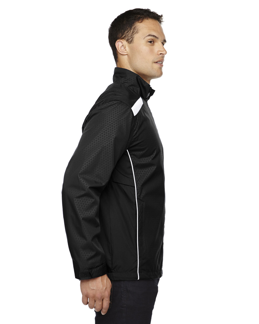 Black-side 88188 North End Lightweight Recycled Polyester Jacket with Embossed Print | Blankclothing.ca