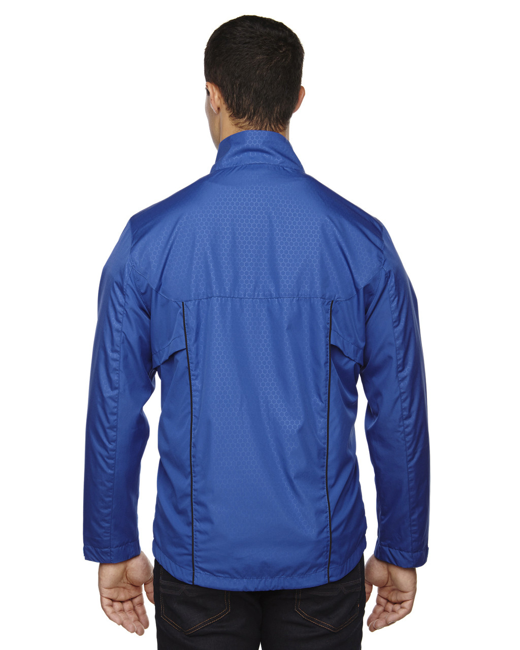 Nautical Blue-back 88188 North End Lightweight Recycled Polyester Jacket with Embossed Print | Blankclothing.ca