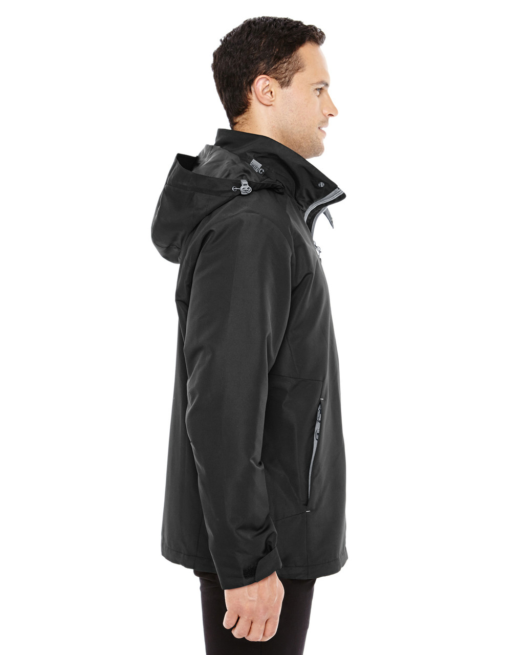 Black/Graphite - side 88226 North End Men's Insight Interactive Shell Jacket | Blankclothing.ca