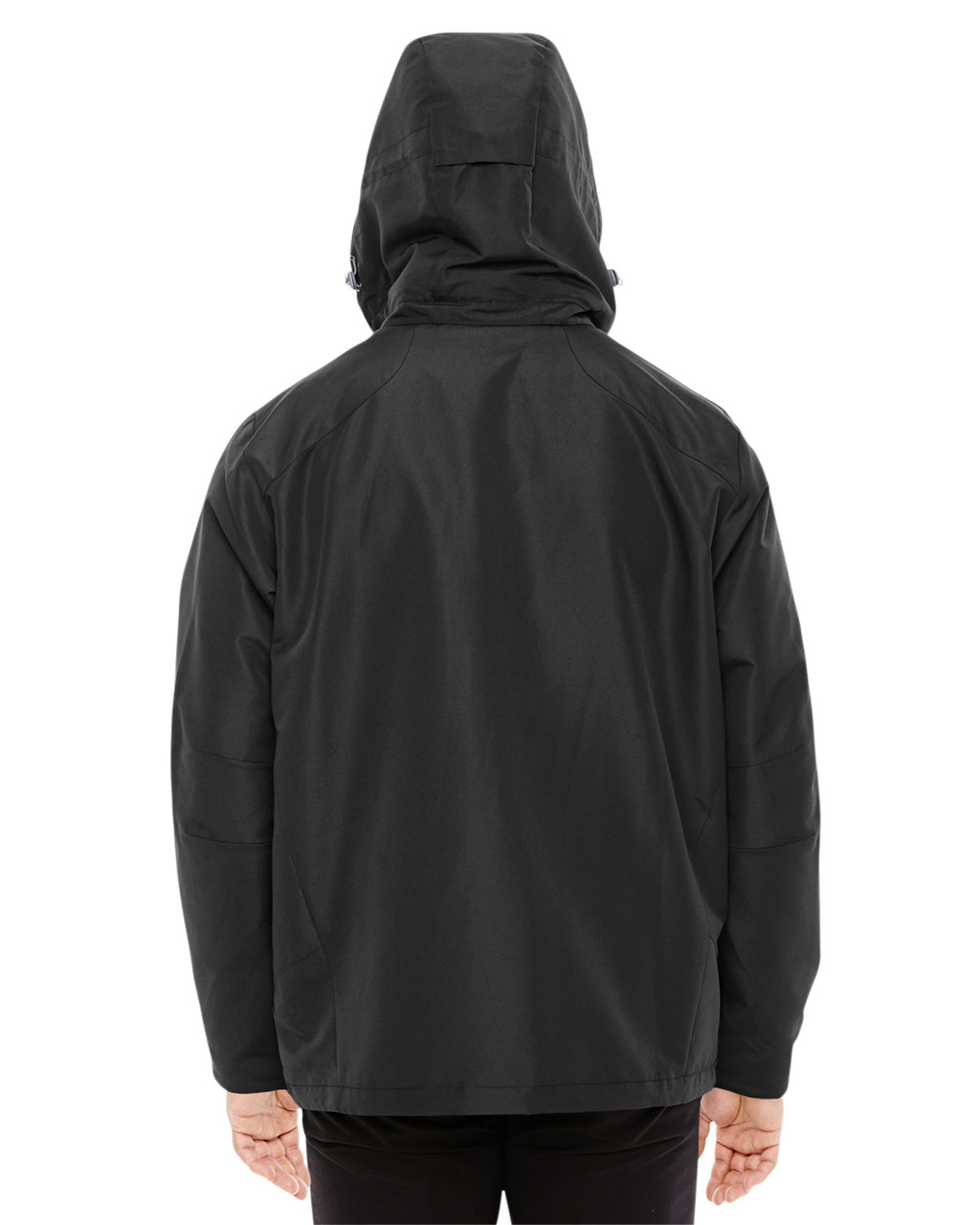 Black/Graphite-back 88226 North End Men's Insight Interactive Shell Jacket | Blankclothing.ca