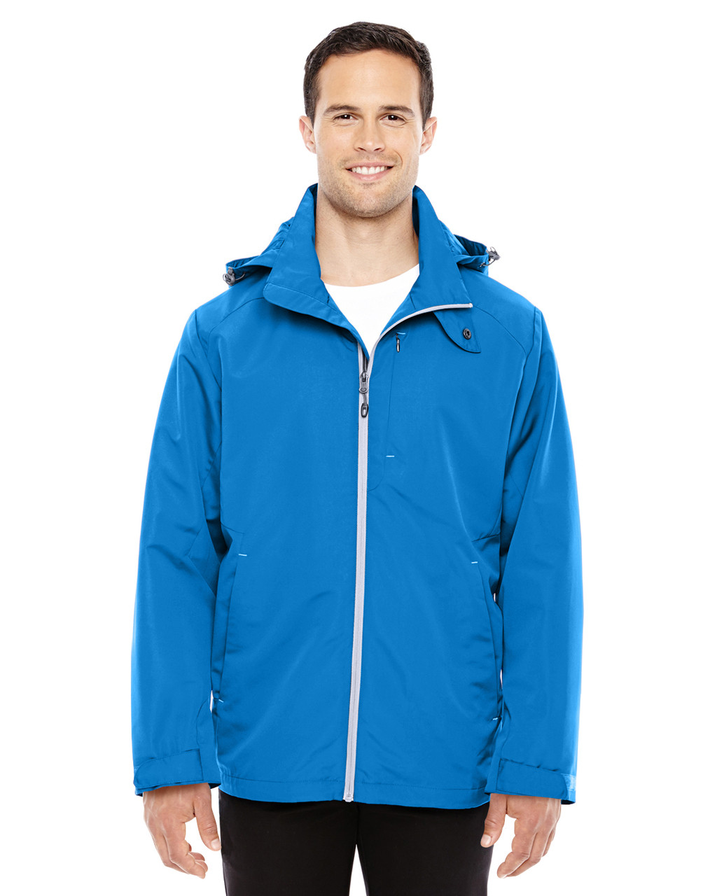 Nautical Blue/Platinum - 88226 North End Men's Insight Interactive Shell Jacket | Blankclothing.ca