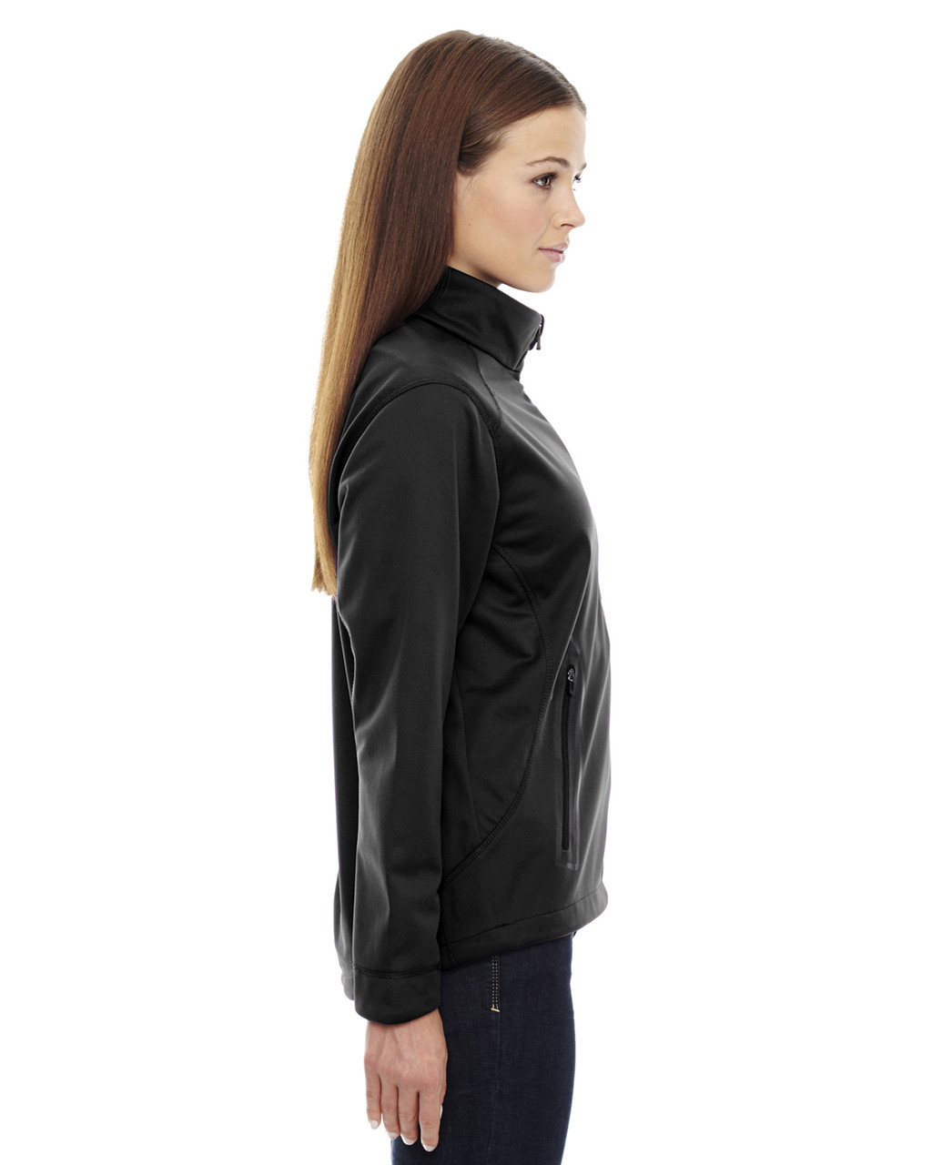 Black-side 78655 North End Sport Red Splice Three-Layer Light Bonded Soft Shell Jacket