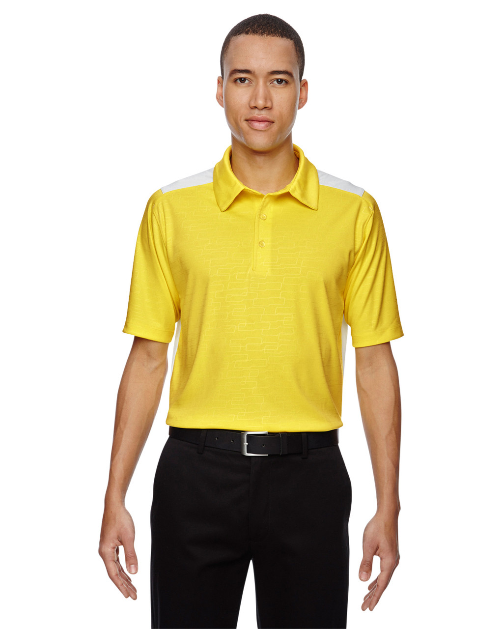 Banana Yellow - 88691 North End Sport Red Reflex UTK Performance Embossed Print Polo Shirt
