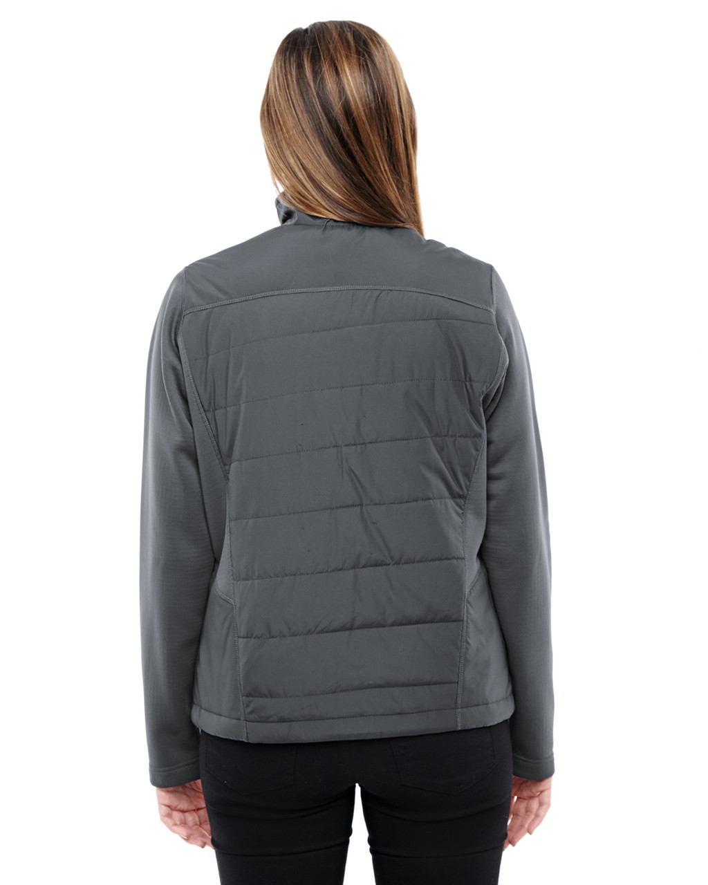 Carbon/Carbon - back 78809 North End Sport Red Quantum Interactive Hybrid Insulated Jacket