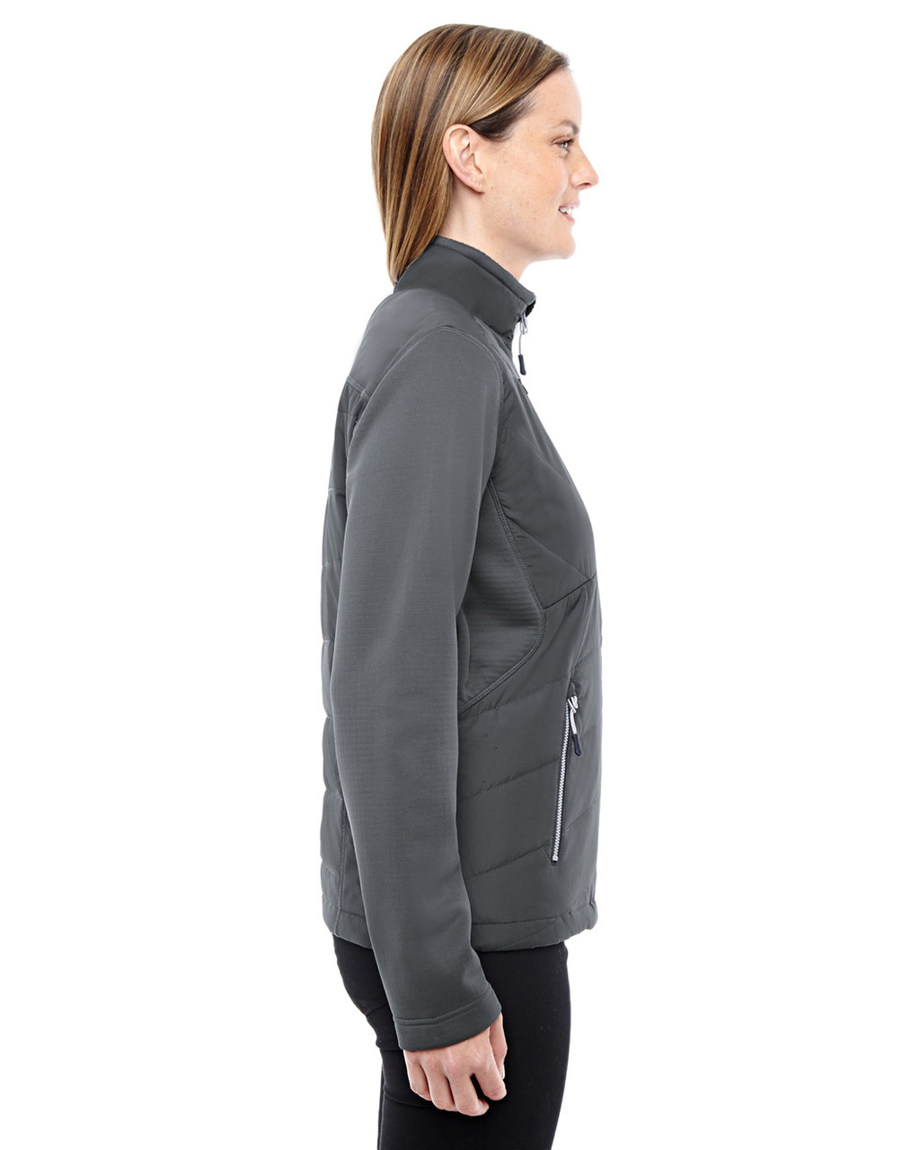 Carbon-side 78809 North End Sport Red Quantum Interactive Hybrid Insulated Jacket