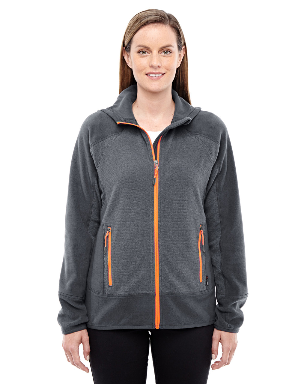 Carbon/Orange Soda 78810 North End Sport Red Vortex Polartec Active Fleece Jacket
