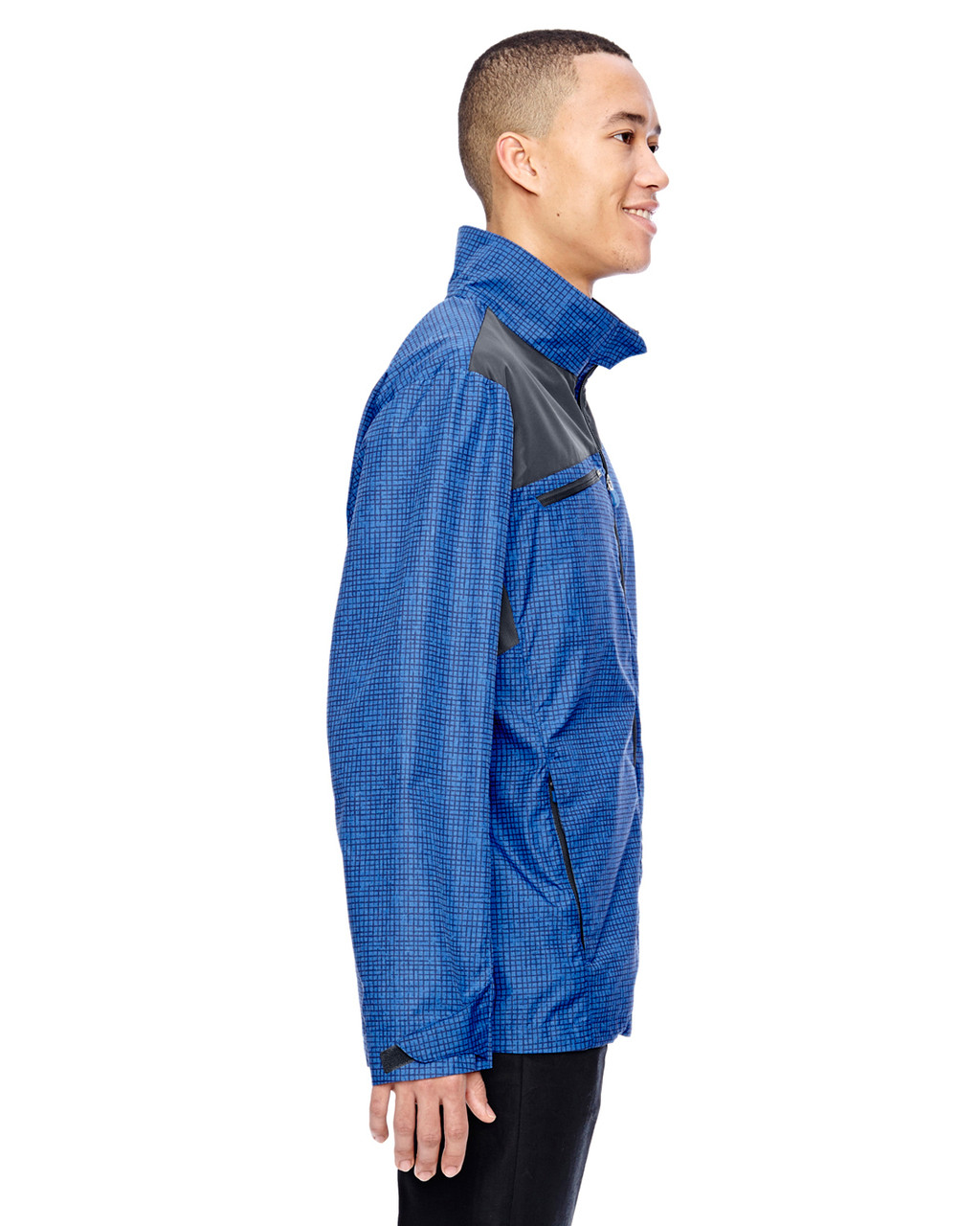 Nautical Blue-side 88805 North End Sport Red Interactive Sprint Printed Lightweight Jacket