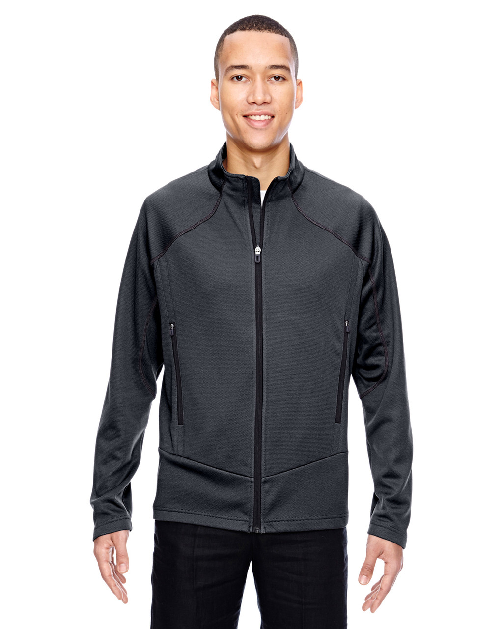 Carbon - 88806 North End Sport Red Interactive Cadence Two-Tone Brush Back Jacket
