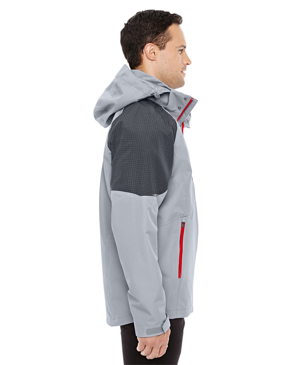 Platinum/Carbon-side 88808 North End Sport Red Impulse Interactive Seam-Sealed Shell Jacket