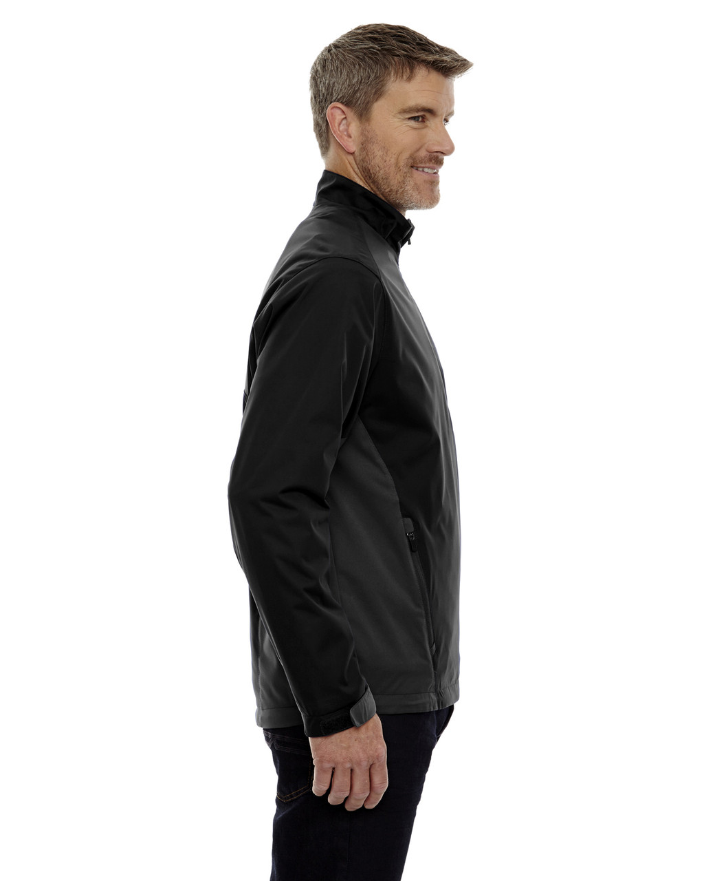 Black-side 88656 North End Sport Red Laminated Performance Stretch Wind Shirt